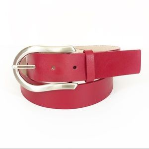 Express • Red Leather Belt